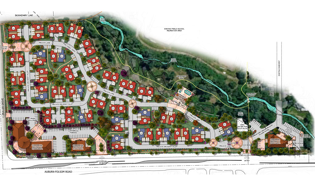 Site Plan for Auburn Village located in Granite Bay, California