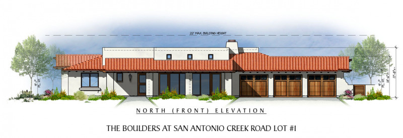 The Boulders at San Antonio Creek Lot 1 Front Elevation