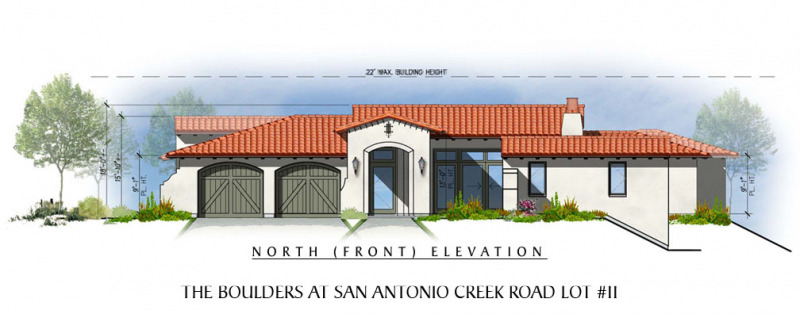 The Boulders at San Antonio Creek Lot 11 Front Elevation