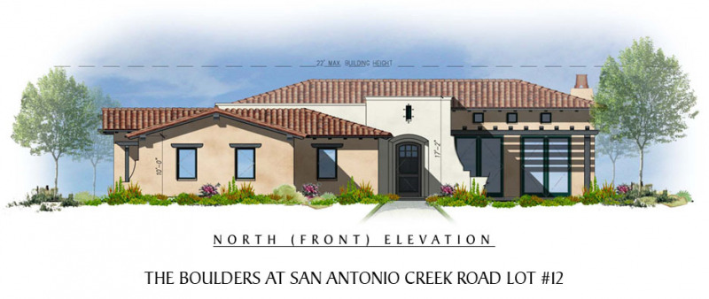 The Boulders at San Antonio Creek Lot 12 Front Elevation