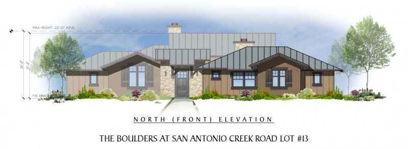 The Boulders at San Antonio Creek Lot 13 Front Elevation
