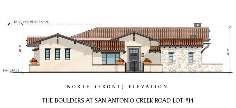 The Boulders at San Antonio Creek Lot 14 Front Elevation