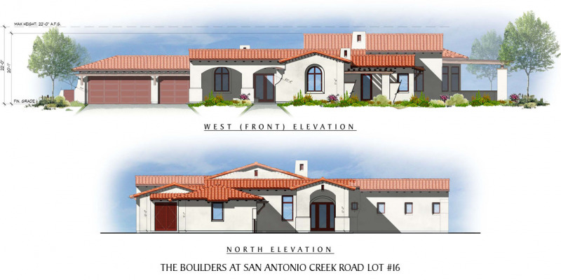 The Boulders at San Antonio Creek Lot 16 Front Elevation