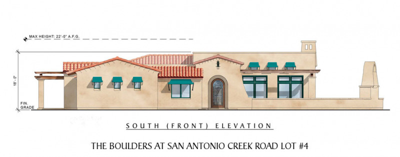 The Boulders at San Antonio Creek Lot 4 Front Elevation