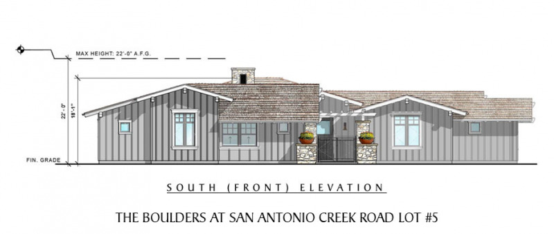 The Boulders at San Antonio Creek Lot 5 Front Elevation