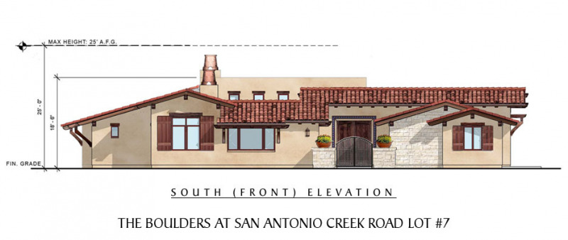 The Boulders at San Antonio Creek Lot 7 Front Elevation