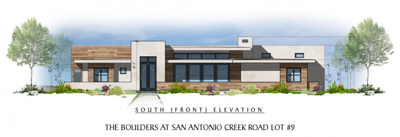 The Boulders at San Antonio Creek Lot 9 Front Elevation