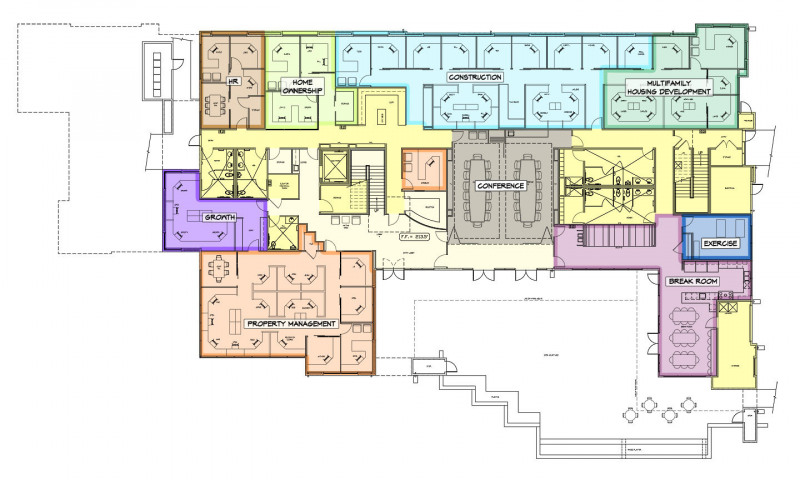 Kendall Corporate Office First Floor Plan