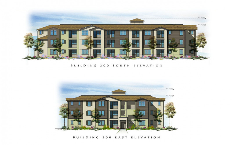 The Village at Los Carneros Building 200 South & East Elevations