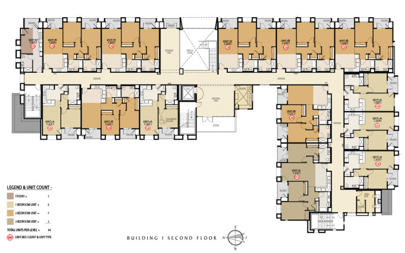 The Residences at Depot Street Building 1 Second Floor Plan
