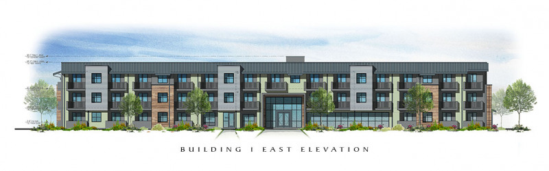 The Residences at Depot Street Building 1 East Elevation