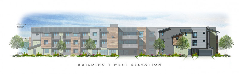 The Residences at Depot Street Building 1 West Elevation