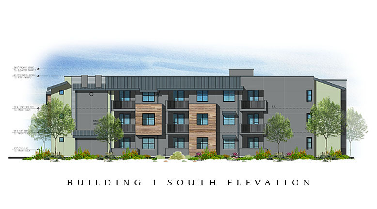 The Residences at Depot Street Building 1 South Elevation