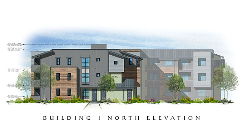 The Residences at Depot Street Building 1 North Elevation