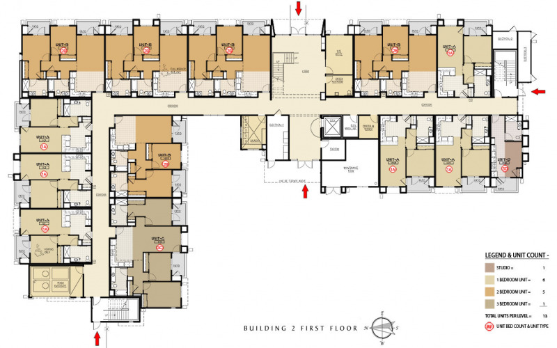 The Residences at Depot Street Building 2 First Floor Plan