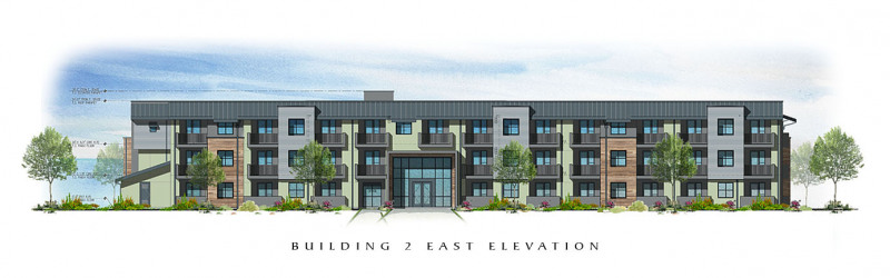 The Residences at Depot Street Building 2 East Elevation