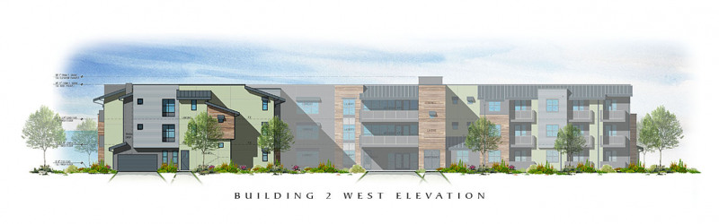 The Residences at Depot Street Building 2 West Elevation