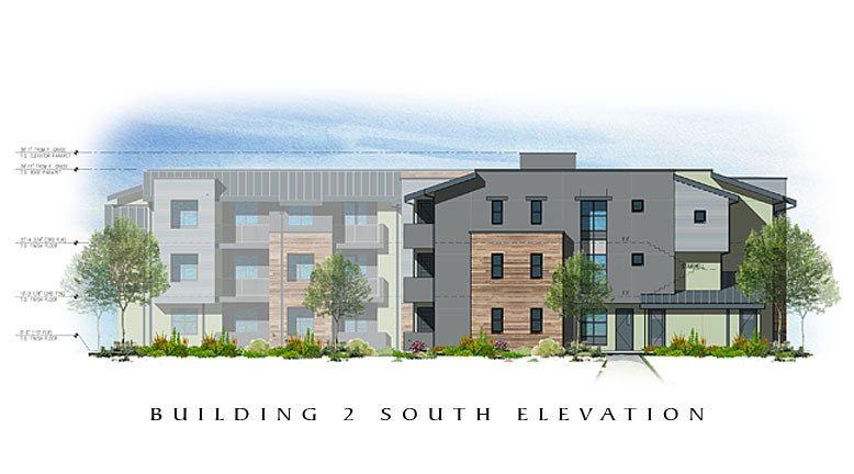 The Residences at Depot Street Building 2 South Elevation