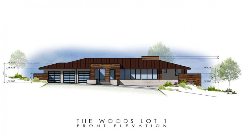 The Woods Lot 1 Front Elevation
