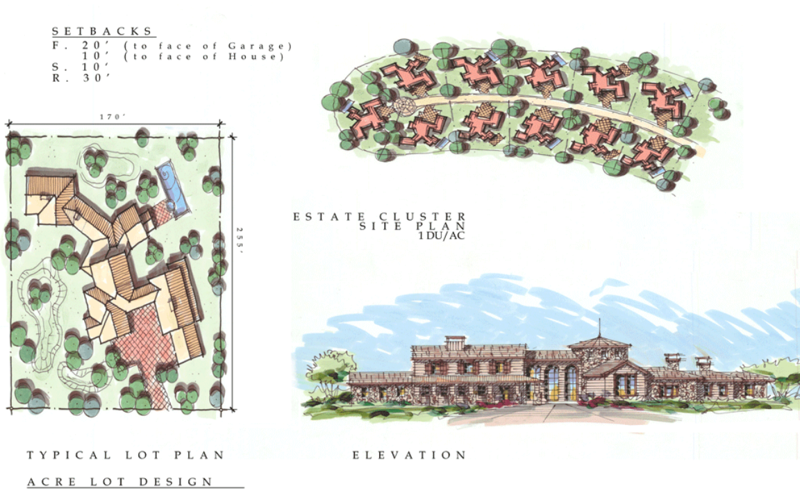 Mountain Gate Meadows Estate Cluster Site Plans and Elevations in Shasta Lake , California