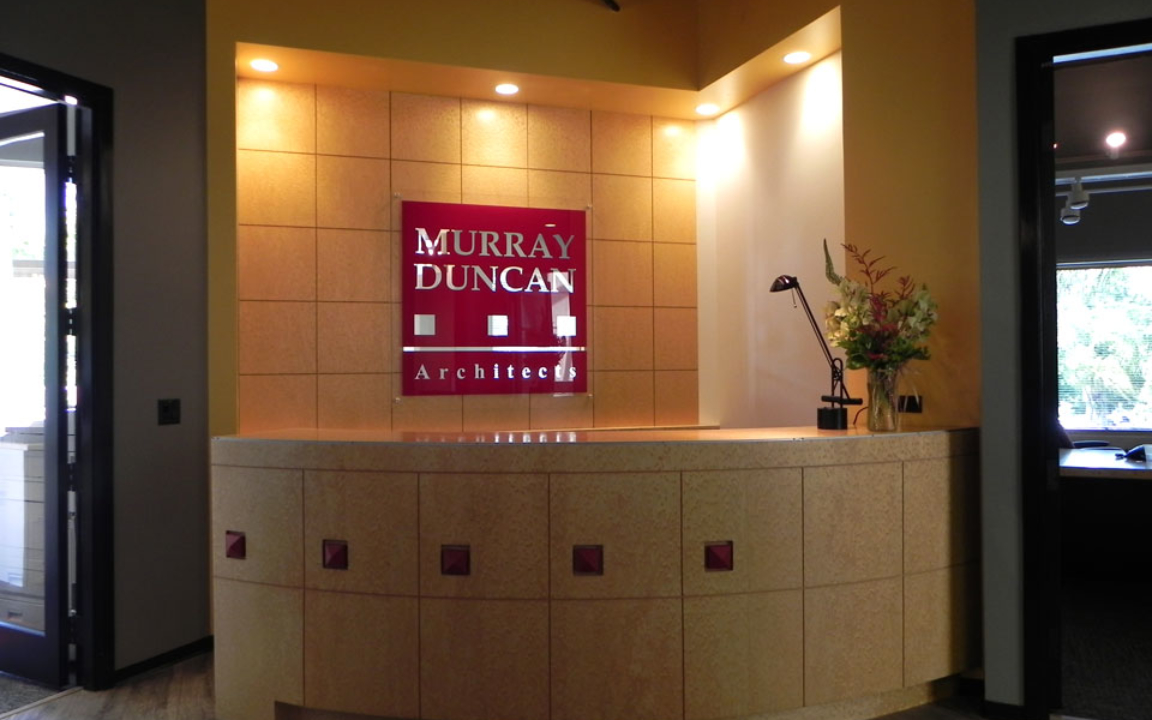 Our New Front Desk in Place at 150 Castilian Drive.