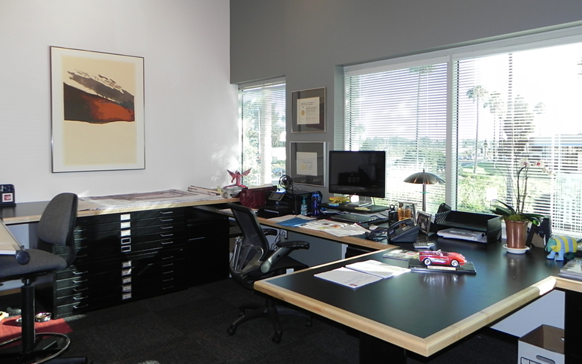 Expanded View of Private Office at 150 Castilian Drive in Goleta, Ca.