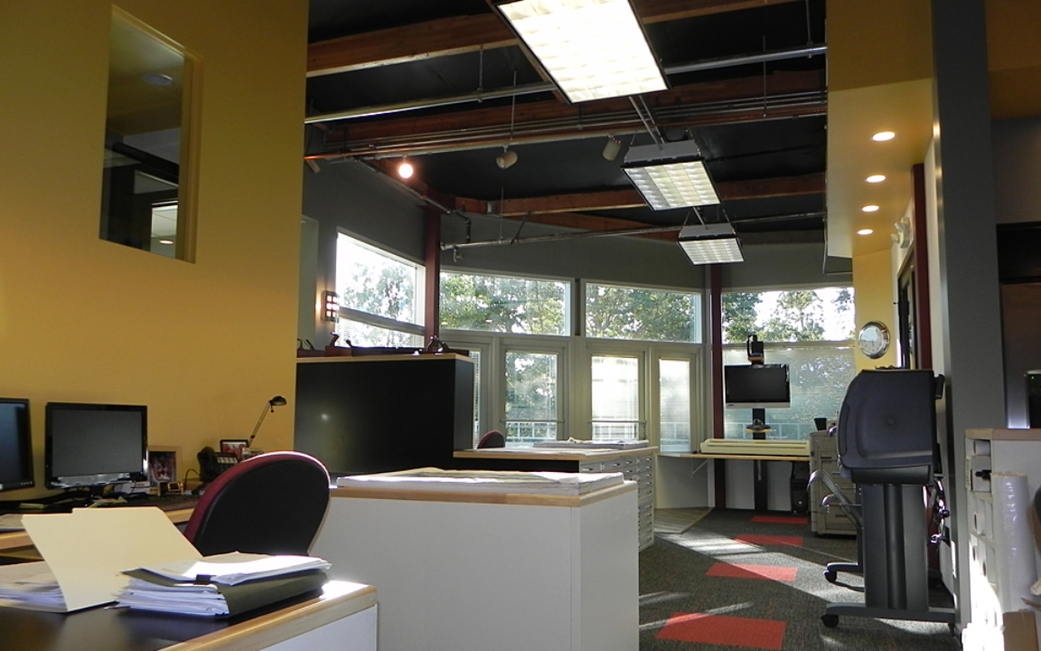 Final Finished View of Open Office Space at 150 Castilian Drive in Goleta, Ca.